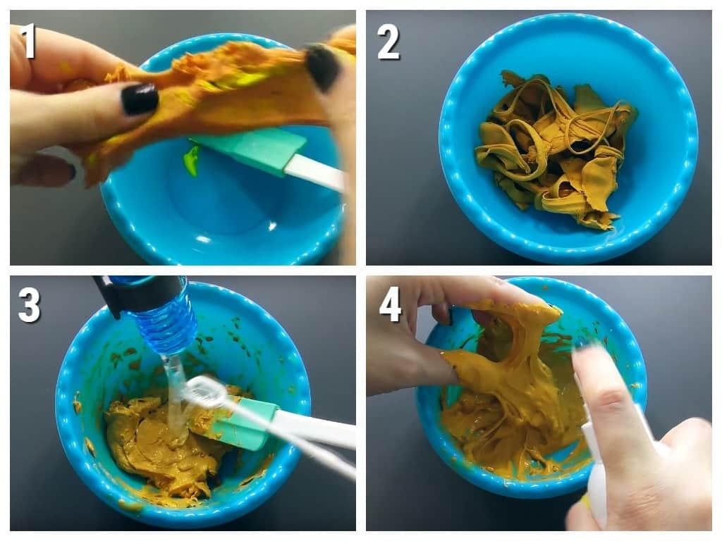 как сделать слайм из пластилина