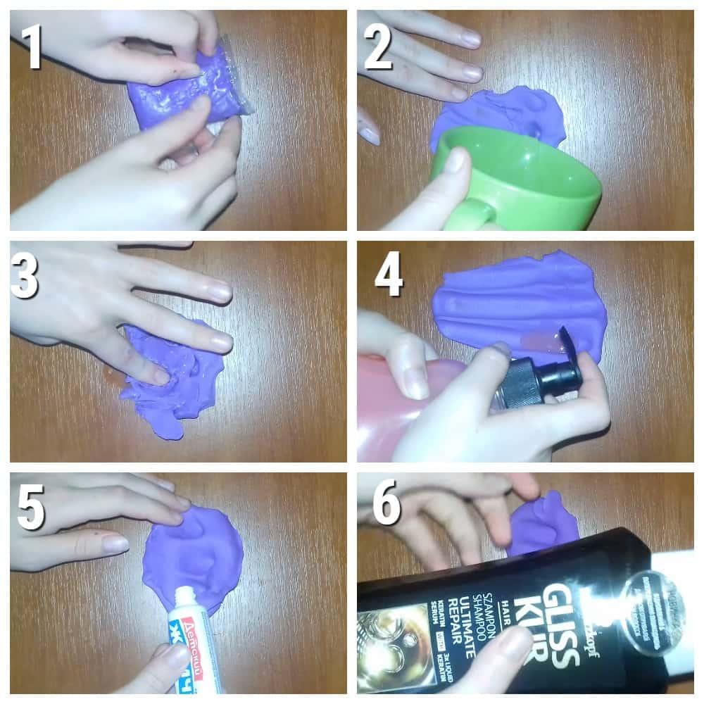 как сделать слайм из легкого пластилина без тетрабората натрия
