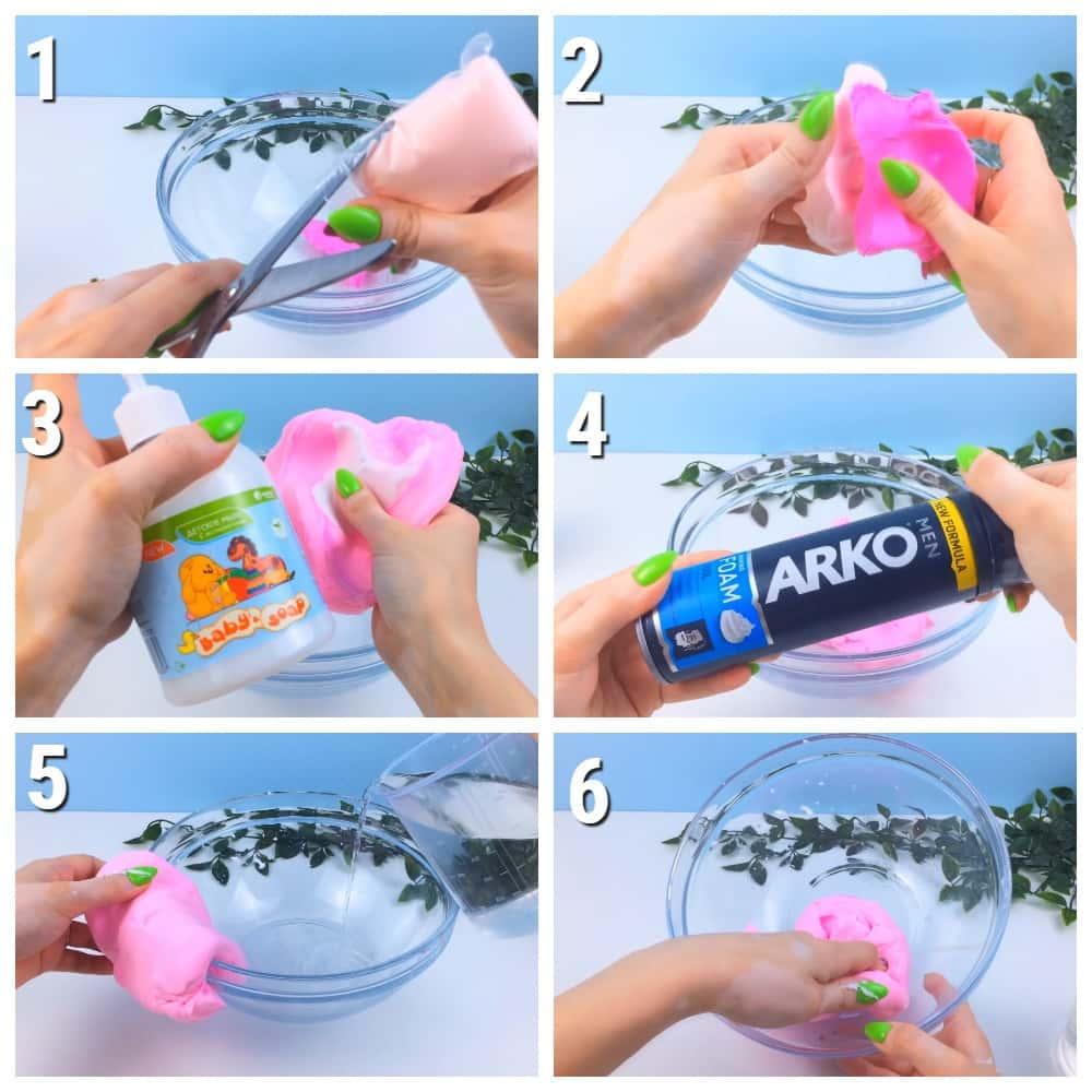как сделать лизуна из легкого пластилина