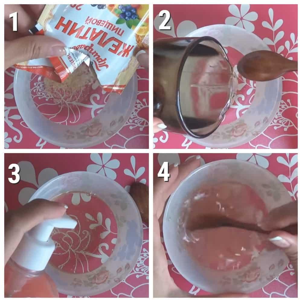 как сделать слайм из желатина но без клея