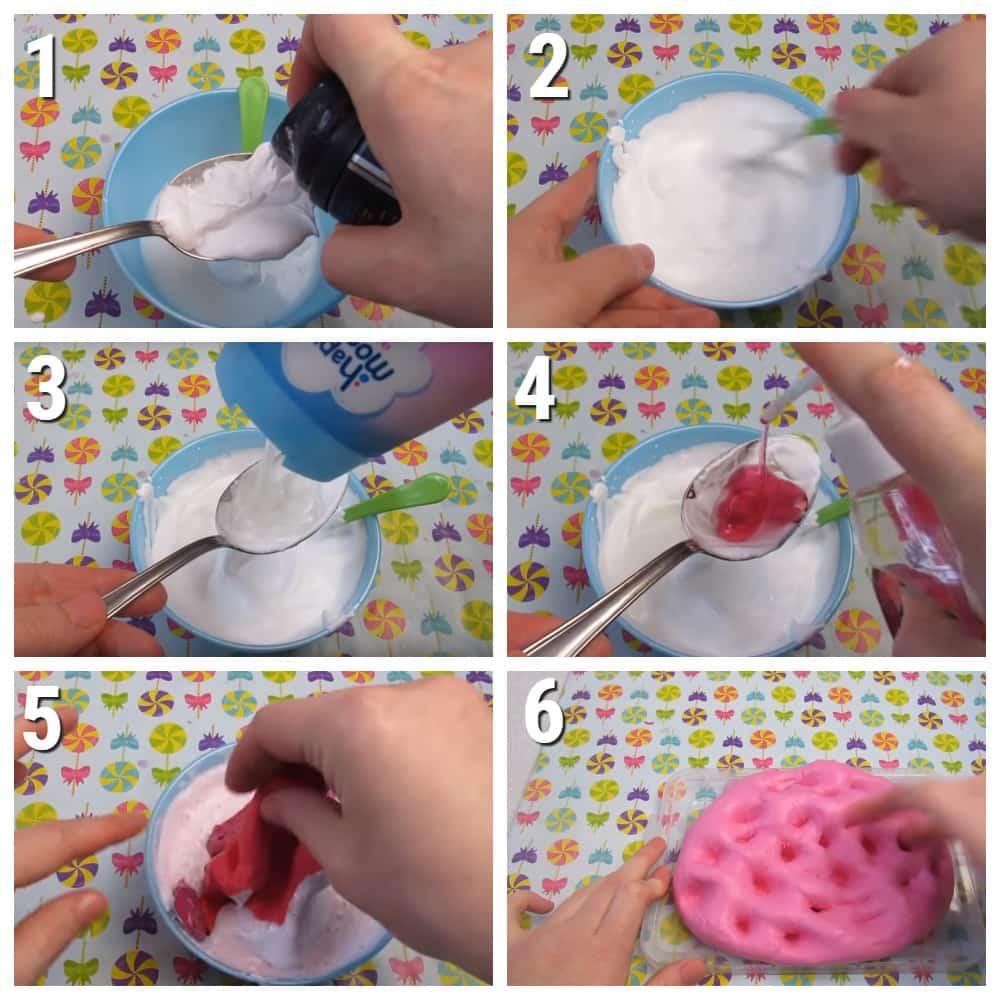 лизун из мыла и шампуня