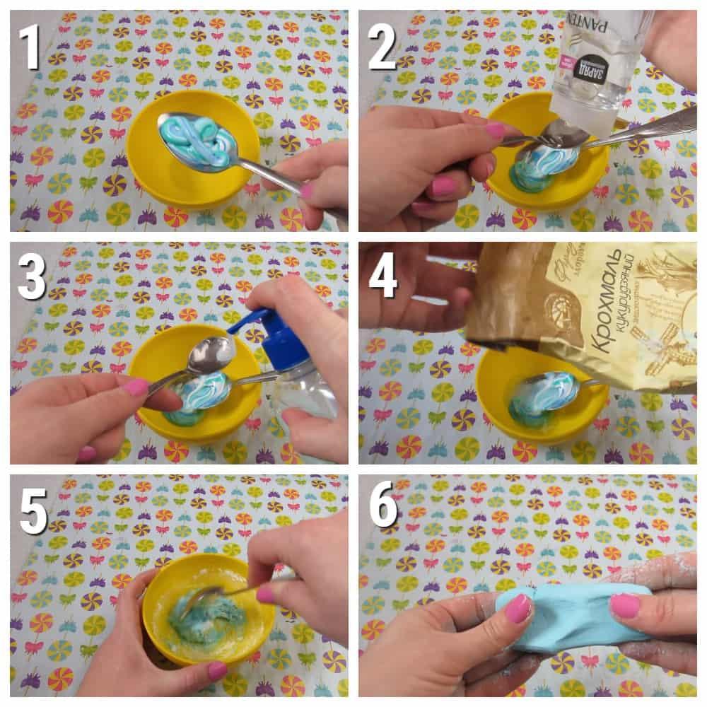 пошаговый рецепт слайма из зубной пасты