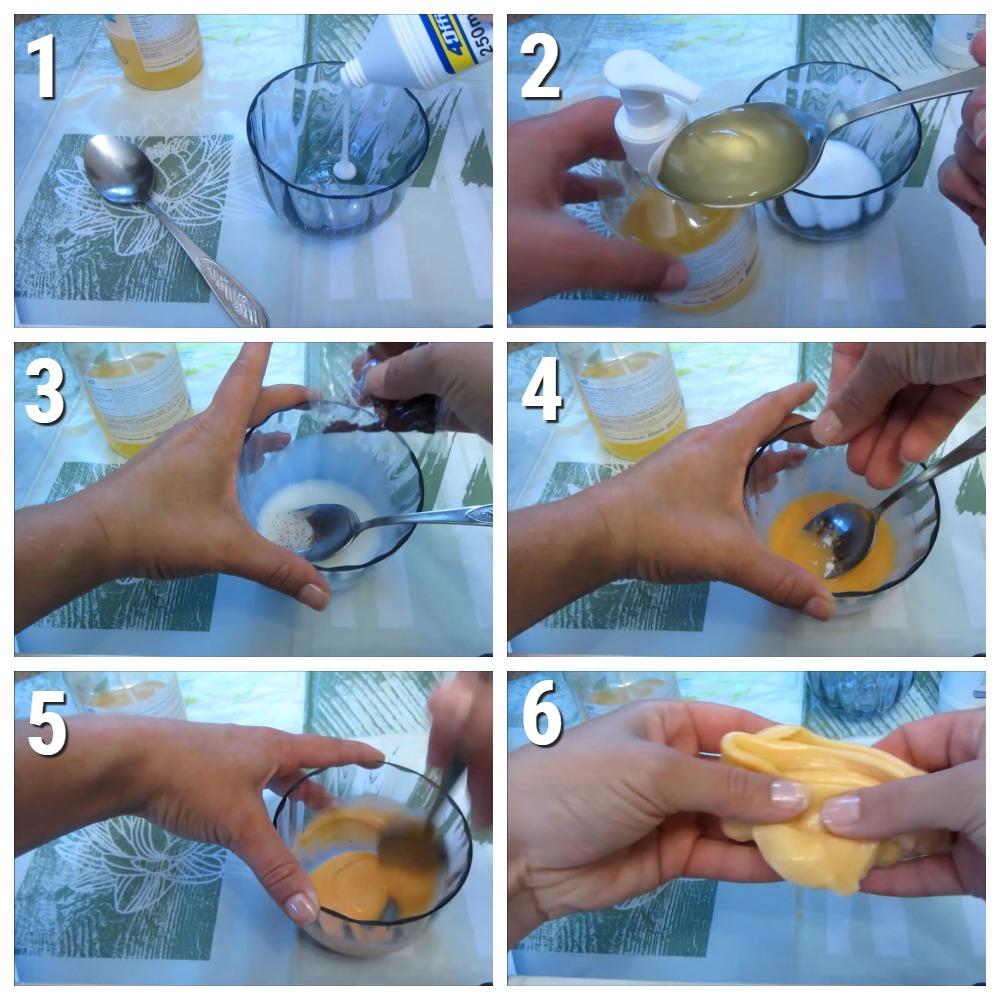 пошаговый рецепт слайма из шампуня