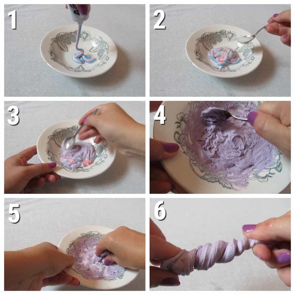 пошаговый рецепт слайма из зубной пасты и сахара
