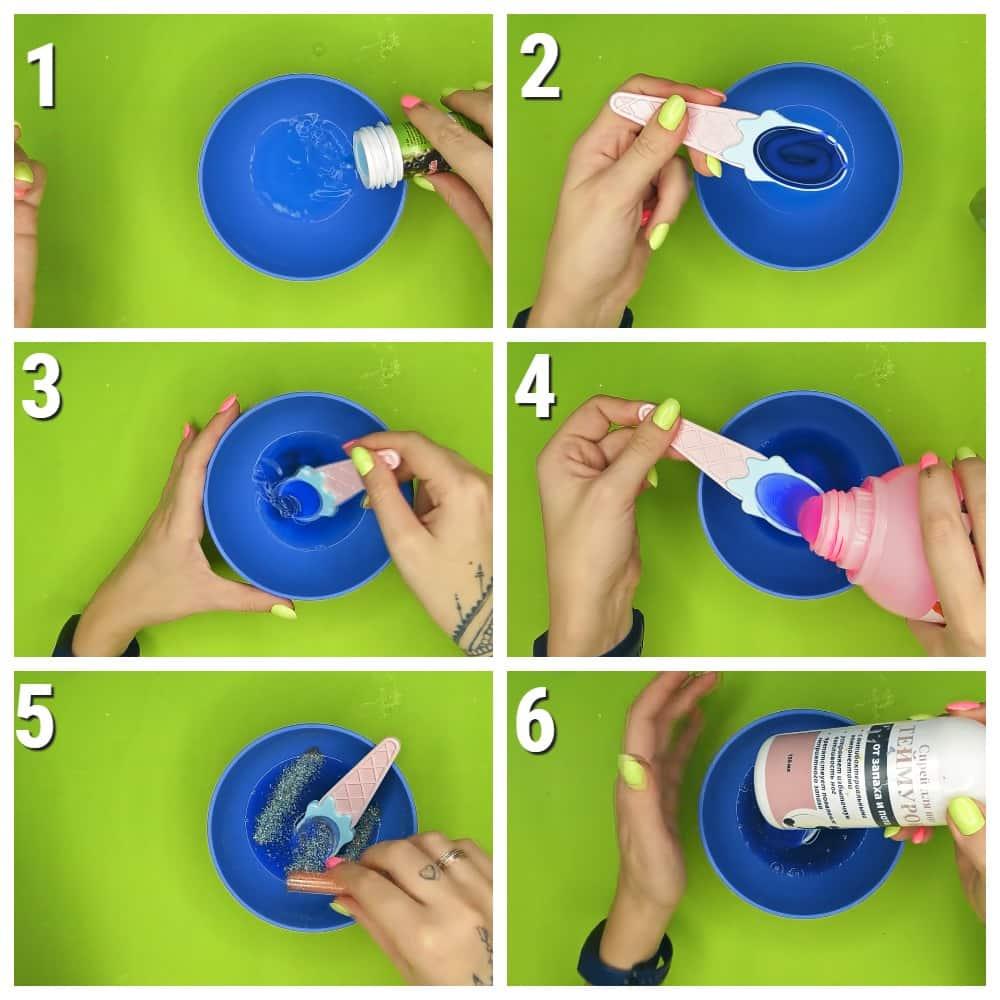 как сделать слайм из мыльных[ пузырей