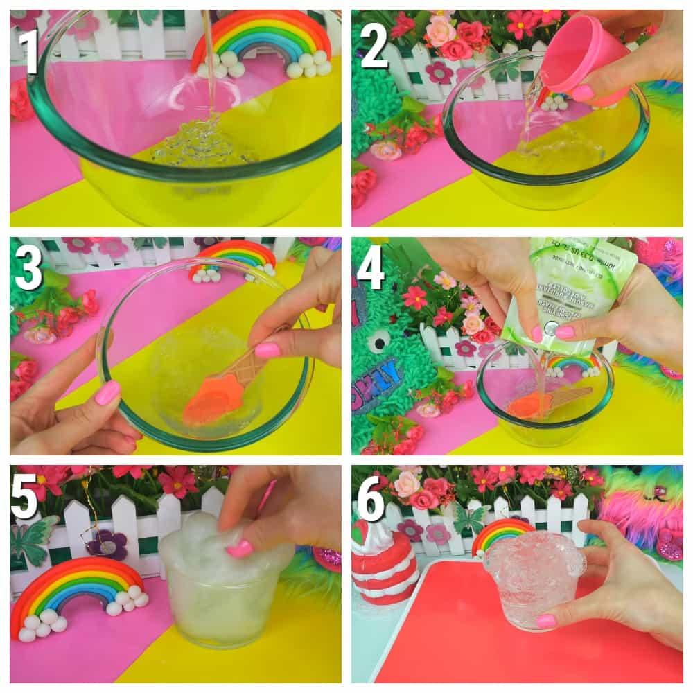 как сделать слайм из жидкого мыла