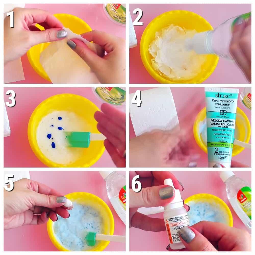 слайм из мыла