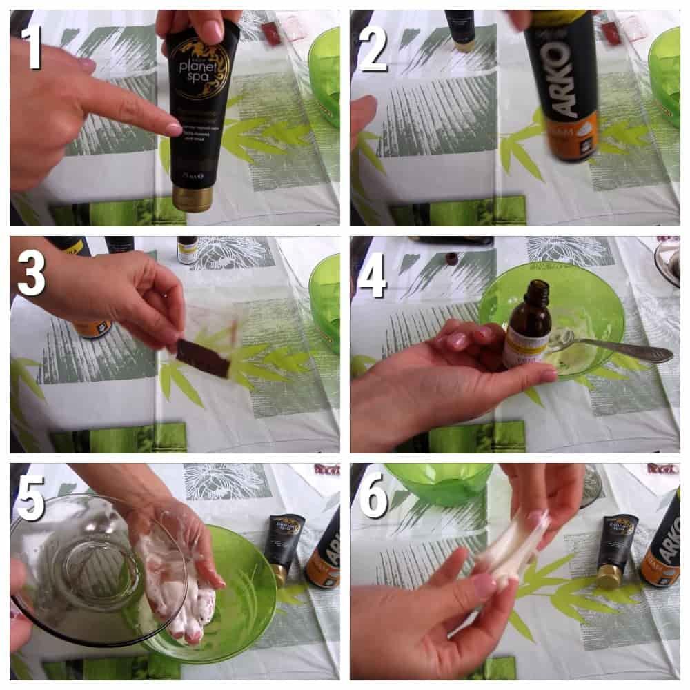 пошаговый рецепт слайма из маски пленки