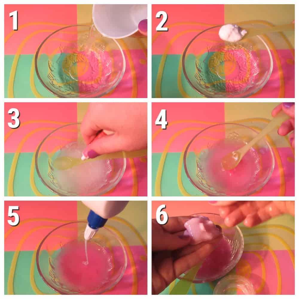 пошаговый рецепт слайма из соды