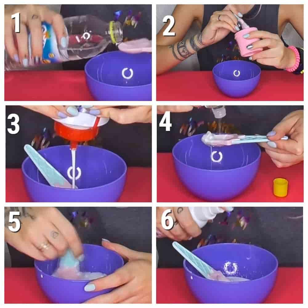 пошаговый рецепт слайма из крема