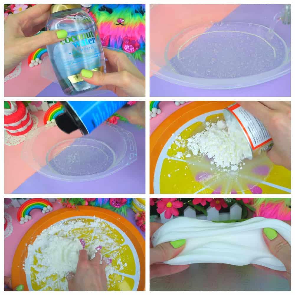 пошаговый рецепт слайма Из шампуня и соли