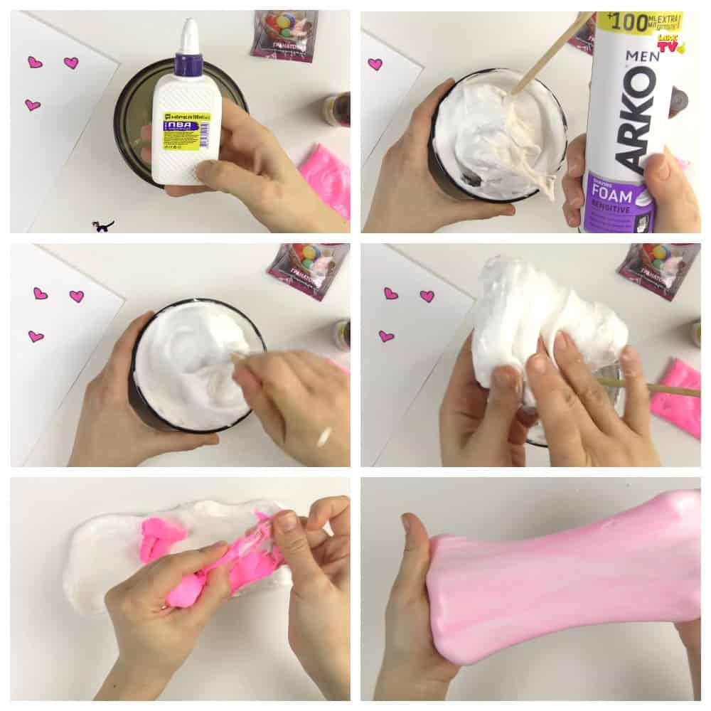 пошаговый рецепт слайма из пеня для бритья без загустителя