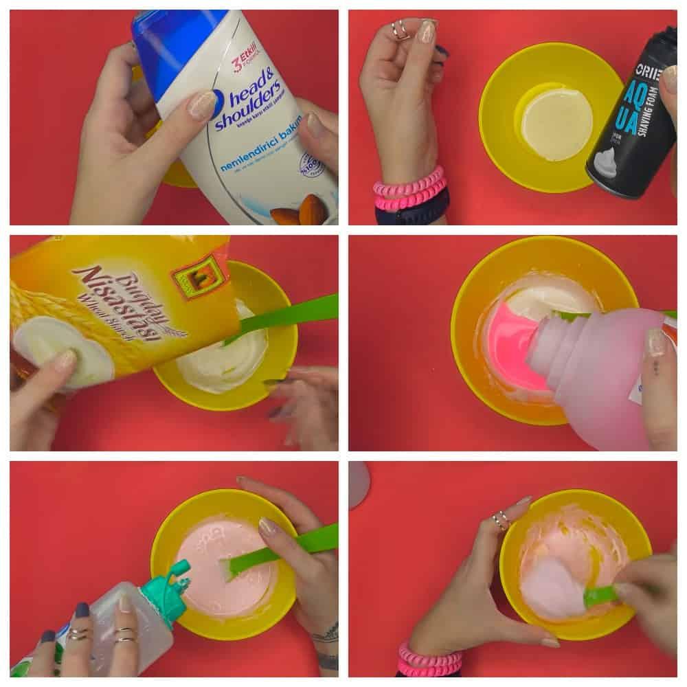 пошаговый рецепт слайма в домашних условиях из пены для бритья